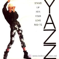 Discos de vinilo: YAZZ ··· STAND UP FOR YOUR LOVE RIGHTS / STAND UP FOR YOUR LOVE RIGHTS (WHAT IT IS! MIX) - (SG 45 R). Lote 27168780