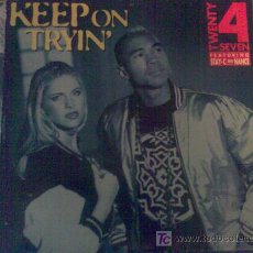 Discos de vinilo - Maxisingle 'Keep on trying' de Twenty 4 Seven. 5 temas. - 17223030