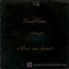 Discos de vinilo: ESTADO CRITICO ··· ¿DÓNDE ESTÁS NAVIDAD? / CHRISTMAS JAM-HOP (CON DNI, QSC, ETC.) - (SINGLE 45 RPM). Lote 20314109