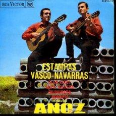 Discos de vinilo: HERMANOS ANOZ - 'ESTAMPA NAVARRA' CLUB KIROL / AUPA JOSHEPA / BILBAINADA / ROMERIA - EP - 1968. Lote 16480326