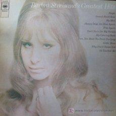 Discos de vinilo: BARBARA STREISAND. GREATEST HITS LP 33 RPM CBS 1970. . Lote 26581868