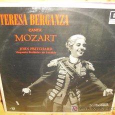 Discos de vinilo: TERESA BERGANZA LP SELLO DECCA CANTA A MOZART. Lote 4976320