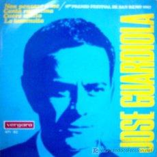 Discos de vinilo: JOSE GUARDIOLA 1º PREMIO FESTIVAL DE SAN REMO 1967. Lote 24681188