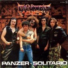 Discos de vinilo: PANZER ··· PANZER / SOLITARIO - (SINGLE 45 RPM). Lote 27466106