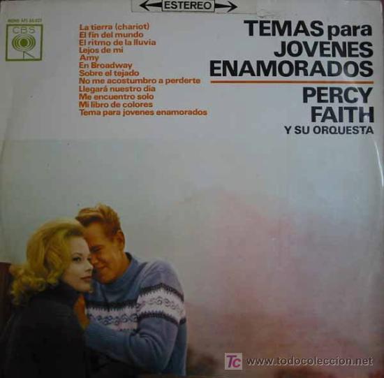TEMAS PARA JOVENES ENAMORADOS. PERCY FAITH Y SU ORQUESTA. 1963. CBS SAPS 60027 (Música - Discos - LP Vinilo - Orquestas)