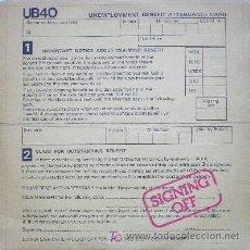 Discos de vinilo: UB 40 ··· SIGNING OFF - (LP 33 RPM + MAXISINGLE 45 RPM). Lote 27548532