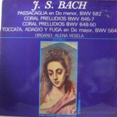 Discos de vinilo: J.S. BACH PASACAGLIA BWV 582-CORAL BWV 645-7 Y 648-50-TOCCATA BWV 564 ALENA VESELA. DISCOPHON 1971 . Lote 27594718