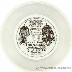 Discos de vinilo: LOS VALENDAS / LA SECTA ··· SMALLTOWN FLIRTING / WANT SIN - (SINGLE 45 RPM - FLEXIDISK). Lote 26716267