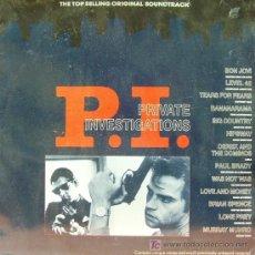 Discos de vinil: BSO-PRIVATE INVESTIGATIONS-BON JOVI, LEVEL 42, TEARS FOR FEARS, BANANARAMA, HIPSWAY, PAUL BRADY. LP. Lote 5099285