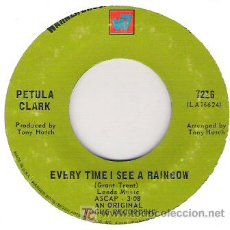 Discos de vinilo: PETULA CLARK - DONT TIME SEE A RAINBOW / DONTGIVE UP. Lote 5117715