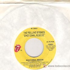 Discos de vinilo: ROLLING STONES -EMOTIONAL RESCUE /DOWN IN THE HOLE 1980. Lote 5699342