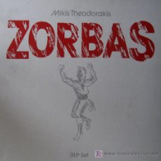 Discos de vinilo: MIKIS THEODORAKIS. ZORBAS CAJA 3 LPS. PLATINUM ED. EN ALEMANIA. MUY RARO. ESTAN NUEVOS.. Lote 27317359