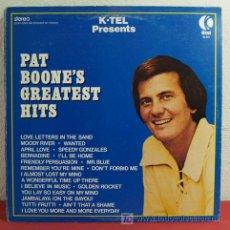 Discos de vinilo: PAT BOONE ( PAT BOONE'S GREATEST HITS ) CANADA-1975 LP33. Lote 5121608