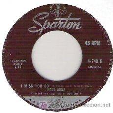 Discos de vinilo: PAUL ANKA - LATE LAST NIGHT / I MISS YOU SO. Lote 11081141