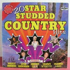 Discos de vinilo: 20 STAR STUDED COUNTRY 'FRANKIE LAINE, JOHNNY CASH, MARTY ROBBINS...' ENGLAND 1967/1977 LP3333. Lote 5124437