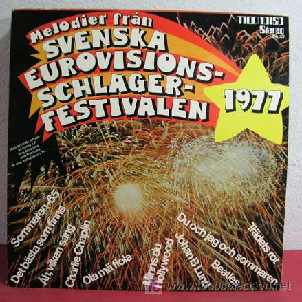 MELODIER FRAN SVENSKA EUROVISIONSSCHLAGER FESTIVALEN-1977 LP33 (Música - Discos - LP Vinilo - Festival de Eurovisión)