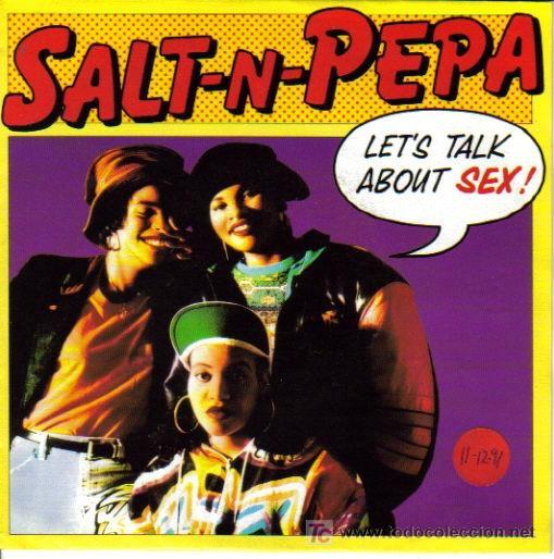 SALT´N´PEPA-LET´S TALK ABOUT SEX + SUPER CRISPY SIDE SINGLE VININILO ALEMANIA POR NEXT EN 1991 (Música - Discos - Singles Vinilo - Rap / Hip Hop)