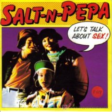 Dischi in vinile: SALT´N´PEPA-LET´S TALK ABOUT SEX + SUPER CRISPY SIDE SINGLE VININILO ALEMANIA POR NEXT EN 1991. Lote 10294446