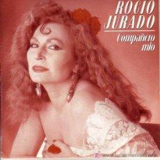 Discos de vinilo: ROCIO JURADO SINGLE PROMOCIONAL COMPAÑERO MIO EMI-P200 1988. Lote 19234970