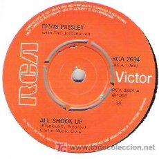 Discos de vinilo: ELVIS PRESLEY - ALL SHOOK UP / HEARTBREAK HOTEL . Lote 5883116