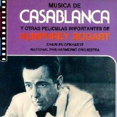 Discos de vinilo: CHARLES GERHARDT ··· MUSICA DE CASABLANCA Y OTRAS PELÍCULAS DE BOGART - (LP 33 RPM) ··· NUEVO. Lote 20360743