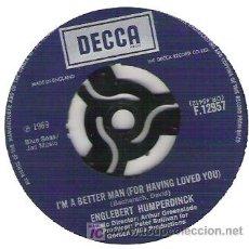 Discos de vinilo: ENGLEBERT HUMPERDINCK - I`M BETTER MAN / CAFE . Lote 6068039