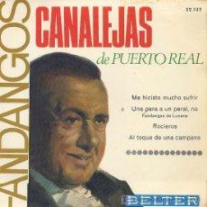 Discos de vinilo: FANDANGOS / CANALEJAS DE PUERTO REAL / SINGLE EP. Lote 5233918