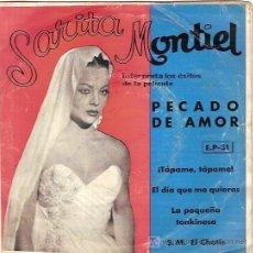Discos de vinilo: SARITA MONTIEL EP SELLO VENEVOX EDITADO EN VENEZUELA. Lote 5763242