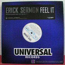 Discos de vinilo: ERICK SERMON ( FEEL IT ) 'CLEAN, INSTRUMENTAL & ACAPPELLA' NEW YORK-2004 . Lote 5252463