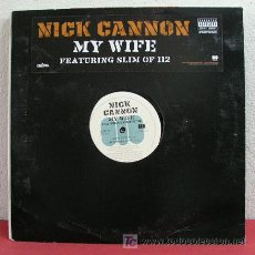 Discos de vinilo: NICK CANNON (MY WIFE FEATURING SLIM OF 112) 'CLEAN,INSTRUMENTAL,MAIN & ACAPPELLA' NEW YORK-2006. Lote 5252961