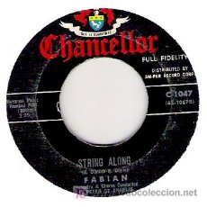 Discos de vinilo: FABIAN - STRING ALONE / ABOUT THIS THING CALLED LOVE . Lote 12137779