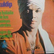 Discos de vinilo: KULDIP. LA BALADA DE LOS BOINAS VERDES,OJOS DE ESPAÑA RF-689,3. Lote 5287397