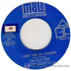 Discos de vinilo: THE BOX TOPS - I MET HER IN CHURCH / PEOPLE GONNA TALK 1968- POPSOUL. Lote 12467195