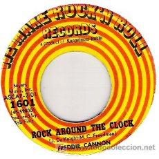 Discos de vinilo: FREDDIE CANNON - ROCK AROUND THE CLOCK / SOCK IT THE JUDGE . Lote 19710824