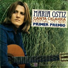 Discos de vinilo: MARIA OSTIZ ·· CANTA CIGARRA / QUIERO ESTAR A TU LADO - (SINGLE 45 R) - 1ER PREMIO FESTIVAL OTI 1976. Lote 20533544