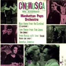 Discos de vinilo: MANHATTAN POPS ORCHESTRA ··· MAIN THEME FOR THE CARDINAL / LOVE THEME FROM TOM JONES... - (EP 45 R). Lote 181150535