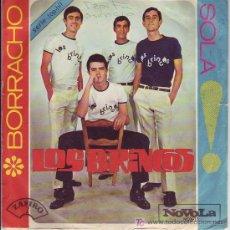 Discos de vinilo: LOS BRINCOS SINGLE BORRACHO 1965 NOVOLA NOX T3. Lote 20513866