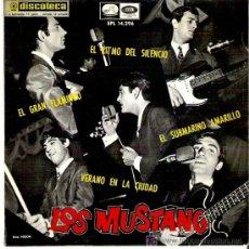 Discos de vinilo: LOS MUSTANG -SUBMARINO AMARILLO /EL GRAN FLAMINGO /VERANEO EN LA CIUDAD / EL RITMO DEL SILENCIO 1966. Lote 13352823