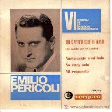 Discos de vinilo: EMILIO PERICOLI : EP 1964 VERGARA 209-XC EDICIÓN ESPAÑOLA. Lote 5453036