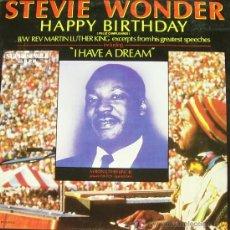 Discos de vinilo: STEVIE WONDER-HAPPY BIRTHDAY MAXI SINGLE VINILO PROMOCIONAL EDITADO POR MOTOWN EN 1984. Lote 5458583