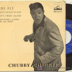 Discos de vinilo: EP 45 RPM / CHUBBY CHECKER / THE FLY // EDITADO POR LA VOZ DE SU AMO. Lote 5492292