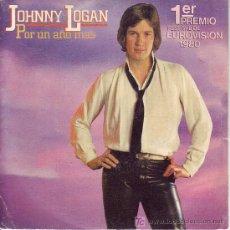 Discos de vinilo: JOHNNY LOGAN SINGLE PROMOCIONAL 1 PREMIO EUROVICION 1980 EPC 8572 SPA. Lote 20746611