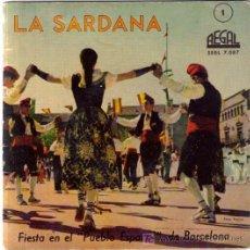 Discos de vinilo: LA SARDANA: EP 1959 DISCO-LIBRO 8 PÁG.DOBLE PORTADA,REGAL SEBL 7.087 RARÍSIMO Y COMO NUEVO . Lote 5499631