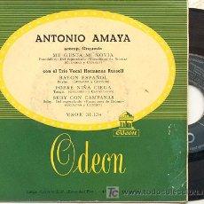 Discos de vinilo: EP 45 RPM / ANTONIO AMAYA / ME GUSTA MI NOVIA /// EDITADO POR ODEON. Lote 22533288