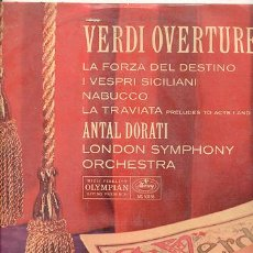 Discos de vinilo: LP 33 RPM / VERTI OVERTURES /LONDON SYMPHONY /// EDITADO POR MERCURY . Lote 5526826