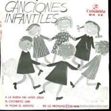 Discos de vinilo: CANCIONES POPULARES INFANTILES - A LA RUEDA DEL NIÑO JESÚS / EL COCHERITO LERÉ - EP - 1968. Lote 5580445