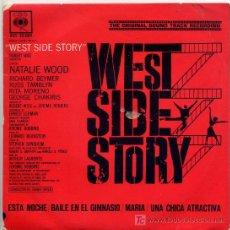 Discos de vinilo: WEST SIDE STORY / ESTANOCHE / BAILA EN EL GIMNASIO / MARIA / UNA CHICA ATRACTIVA (EP 62). Lote 12697891