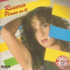 Discos de vinilo: DISCO SENCILLO DE ROSARIO FLORES: PIENSO EN TI Y ¡OH, TU MÚSICA! DE RCA AÑO 1984. . Lote 25497987