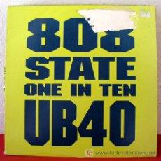 Discos de vinilo: UB40 ( 808 STATE ONE IN TEN 4 VERSIONES ) NEW YORK-1992 MAXI. Lote 5609051