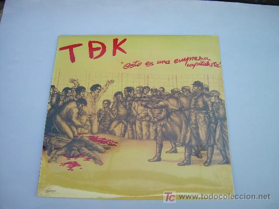 LP TDK ESTO ES UNA EMPRESA CAPITALISTA PUNK VINILO (Música - Discos - LP Vinilo - Punk - Hard Core)